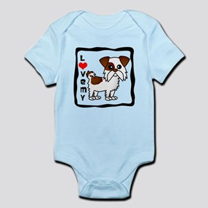 Love My Shih Tzu Brown and White Infant Bodysuit