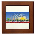 Cielo Azul de Zacatecas Framed Tile