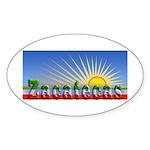 Cielo Azul de Zacatecas Sticker (Oval 50 pk)