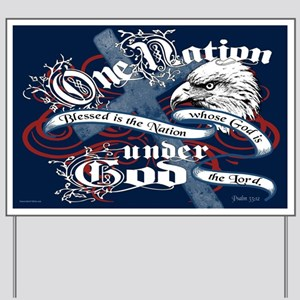 One Nation - Blessed Yard Sign
