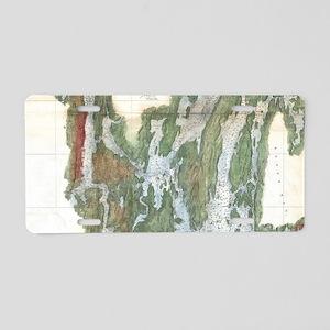Vintage Kennebec and Sheeps Aluminum License Plate