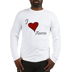 I love Aaron Long Sleeve T-Shirt