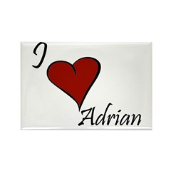 I love Adrian Rectangle Magnet