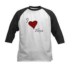 I love Alexa Kids Baseball Jersey