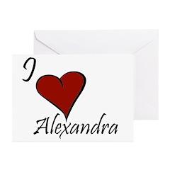 I love Alexandra Greeting Cards (Pk of 20)