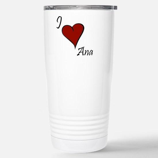 I love Ana Stainless Steel Travel Mug
