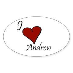 I love Andrew Sticker (Oval 10 pk)
