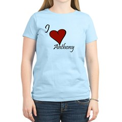 I love Anthony Women's Light T-Shirt