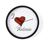 I love Antonio Wall Clock