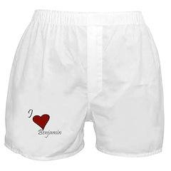 I love Benjamin Boxer Shorts