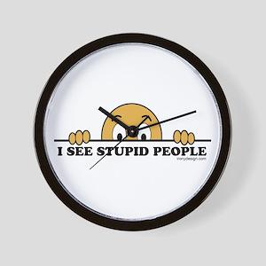 I See Stupid People Wall Clock