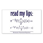 Riemann's Functional Equation Sticker (Rectangular