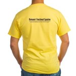 Riemann's Functional Equation Yellow T-Shirt