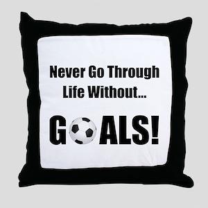 Soccer Goals! Throw Pillow