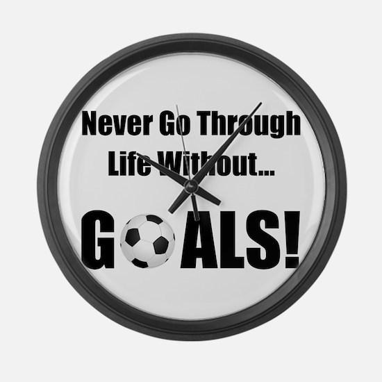 Soccer Goals! Large Wall Clock