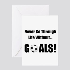 Soccer Goals! Greeting Card
