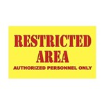 Restricted Area 35x21 Wall Decal