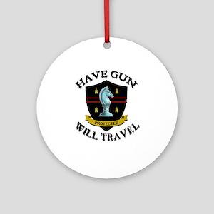 Have Gun Ornament (Round)