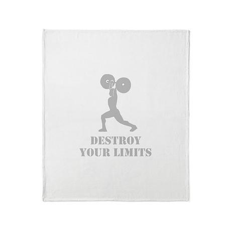 Weightlifting Destroy Limits! Throw Blanket