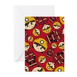 Cute UK Firefighter Greeting Card (Pk of 20)