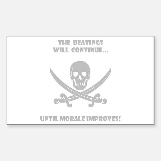 Morale Improvement! Sticker (Rectangle)