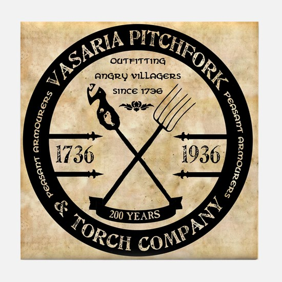 Vasaria Pitchfork and Torch C Tile Coaster