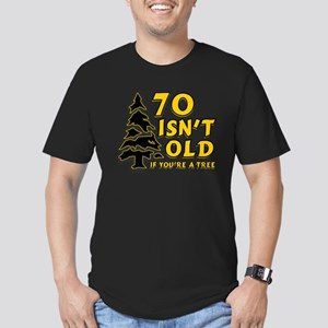 70 isn't old Men's Fitted T-Shirt (dark)