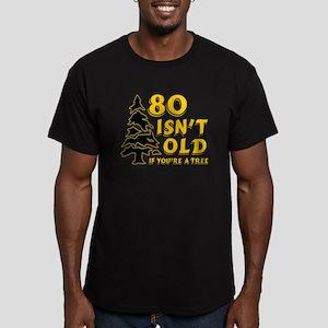 80 Isnt old Birthday Men's Fitted T-Shirt (dark)