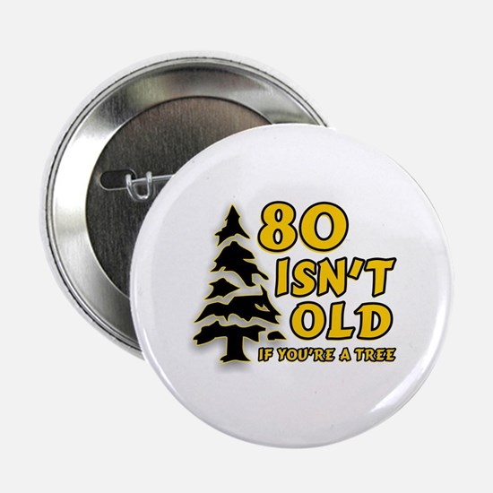 """80 Isnt old Birthday 2.25"""" Button"""