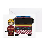 Firefighter and Fire Engine Card (Pk of 20)