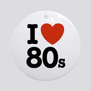 I Love 80's Ornament (Round)