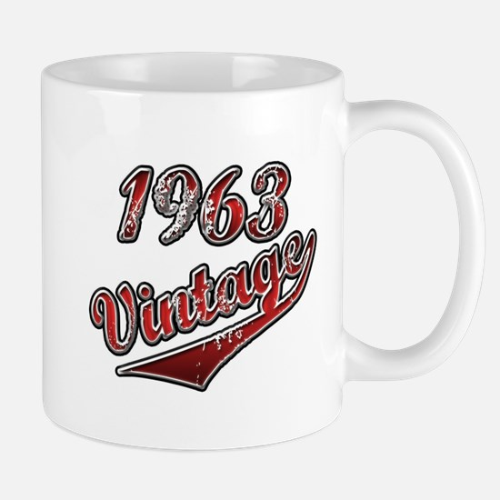 1963 Vintage Red Mugs
