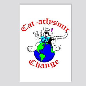Cat-aclysmic Change Postcards (Package of 8)