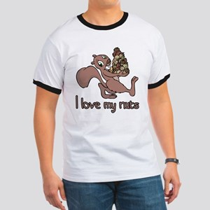 I love my nuts Ringer T