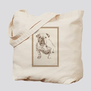 English Bulldog Tote Bag