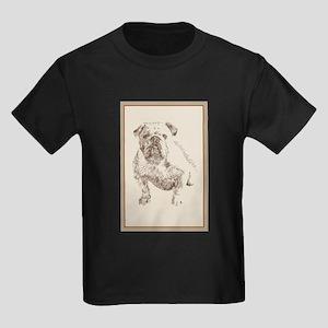 English Bulldog Kids Dark T-Shirt