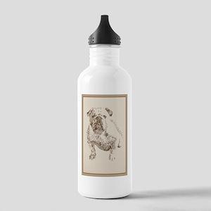 English Bulldog Stainless Water Bottle 1.0L