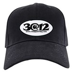 3@12 Baseball Hat Black Cap With Patch