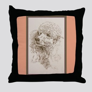 Poodle Standard Throw Pillow
