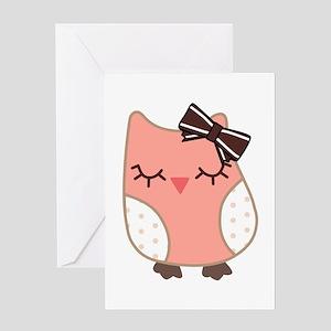 cute baby owl Greeting Card
