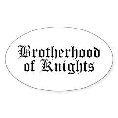 Brotherhood of Knights Sticker (Oval 50 pk)