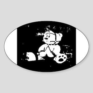 LEATHER BONDAGE CUB Oval Sticker