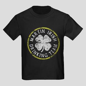 Martin Irish Drinking Team Kids Dark T-Shirt