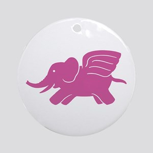 Flying Elephant Ornament (Round)