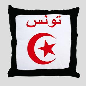 Tunisia Script Throw Pillow