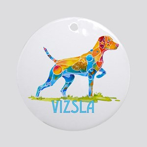 Vizsla on Point Gifts Ornament (Round)