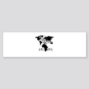 Africa Genealogy Tree Sticker (Bumper)