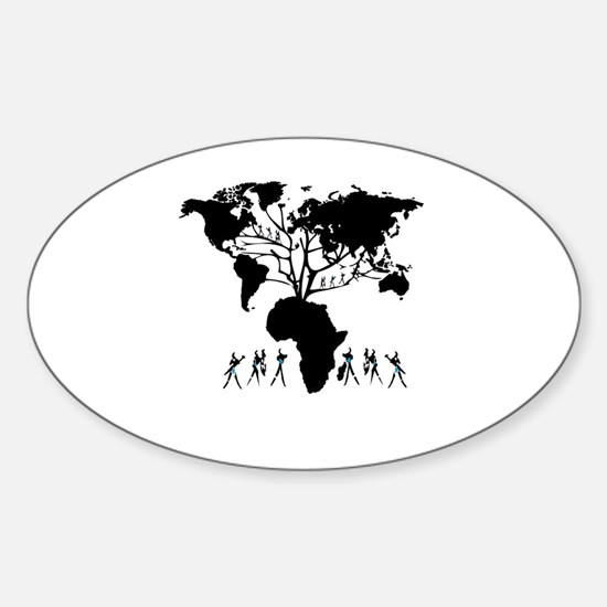 Africa Genealogy Tree Sticker (Oval)