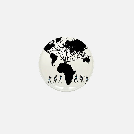 Africa Genealogy Tree Mini Button