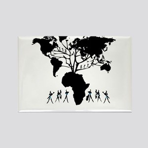 Africa Genealogy Tree Rectangle Magnet